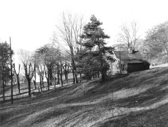 Nordre del av Sandvikslien ved Christinegaard ca. 1910-30. (Fotograf: Ralph L. Wilson / Billedsamlingen Marcus UiB)