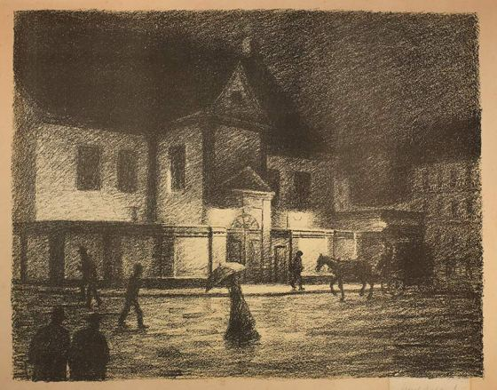Det Gamle Rådhus (Moritz Kaland 1900, Billedsamlingen Marcus, UiB)