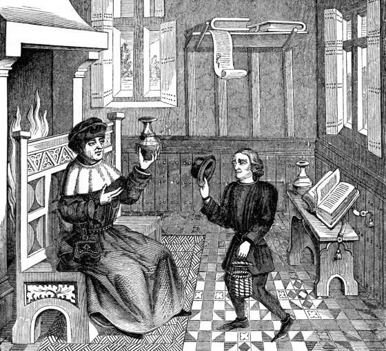 I en leges hus (middelalder) (fritt)
