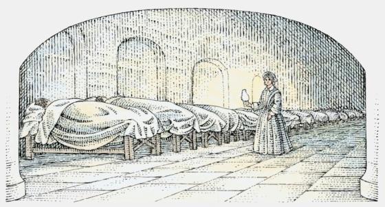 Sykehus på 1800-tallet (fritt)