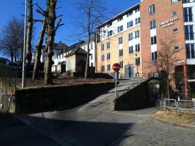 Her lå huset Holberg ble født i