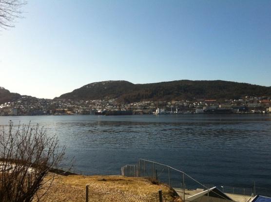Utsikt mot Puddefjorden og Damsgård