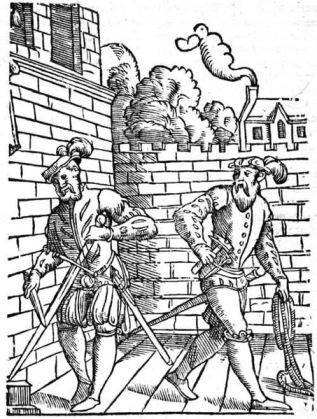 Skarpretterne overtok etterhvert oppgavene som bødlene hadde utført. (Antwerpen - Beller - 1562. Fritt, Wikimedia Commons)