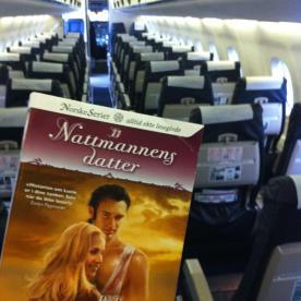 I Stjørdal på flyet med Christine