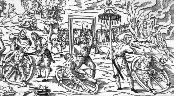 Bøddlene og rakkerne sto for grusomme straffer i middelalderen (Fritt, Wikimedia Commons)
