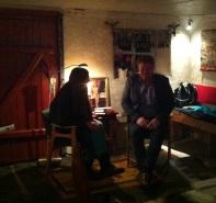 Jørn Lier Horst blir intervjuet av Marit Bendz
