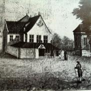 Rådhuset på 1700-1800-tallet. (J.C Dahl 1809, Fra Bergen bys historie bind II)
