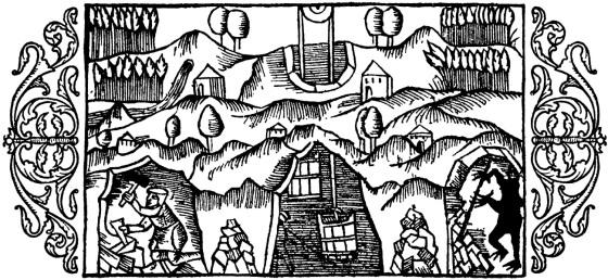 Olaus Magnus Historie om de nordiske folk. Bok 6 - Kapitel 10 - Om bergtroll. Utgivelsesår 1555.
