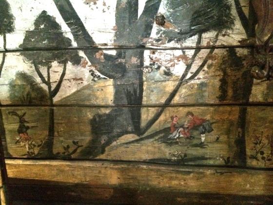 Motivet i farger, men ikke helt, siden det er dekket av en seng på museet. (Foto: MLR)