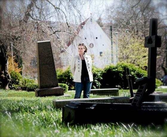 Når jeg er der, er Lucie der, er leserne der.  Fotograf: Silje Katrine Robinson, publisert i Norsk Ukeblad 2012