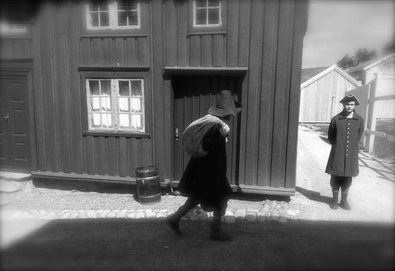 Nattmannen og vekteren på Sverresborg (Foto: May Lis Ruus)