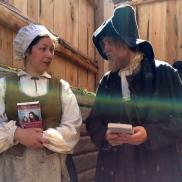 Lucie med Trondheims nattmann og hans frue, på Sverresborg