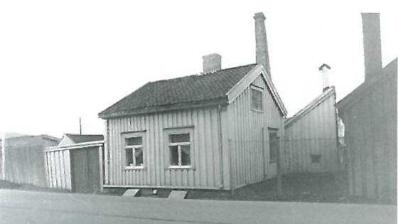 Nattmannshuset lå fra 1700-tallet på Ila, ved Skansen og Stranden. Bildet er fra 1960-tallet og tilhører Sverresborg Museum.