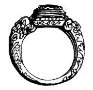 At begge parter skulle ha en gullring, ble innført på slutten av 1500-tallet. (Kilde: Dagligt liv i Norden i det 16de Aarhundre, Troels-Lund)