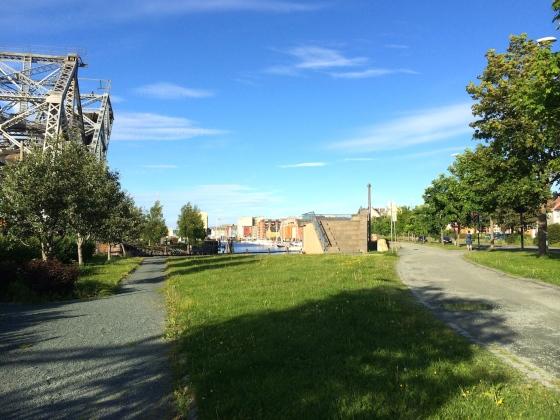 Området ved Skansenbrua fra 1918. Nattmannshuset sto på høyre side av bildet. (Foto: May Lis Ruus)