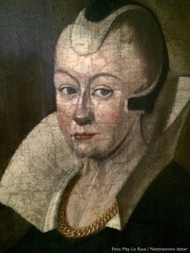 Tykkeste slekta fra 1643: Karen Mauritsdatter var Strange Jørgensens barnebarn. Hennes oldemor, Elsebe Thomasdatter Ruus, stammer jeg fra.