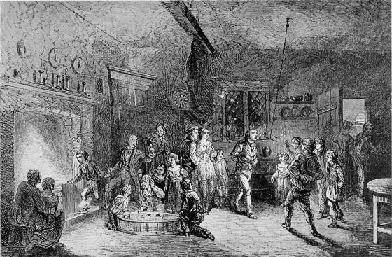Halloweenfest anno 1919. Det kunne like gjerne vært en julestue. (Kilde: wikipedia, fritt)