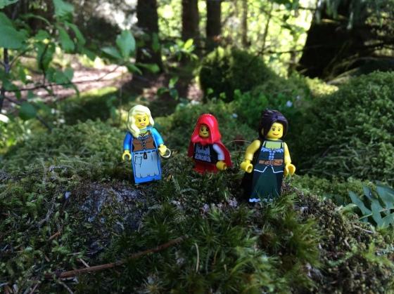 Lego-Lucie med Tilly og Karen Malene