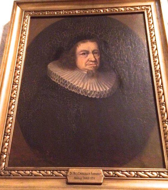 Nils Enevoldsen Randulf, 1630–1711.  (Foto av maleri i Domkirken, May Lis Ruus 2014)