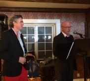 Foredrag ved historikerne Christopher John Harris og Gro Elisabeth Bastiansen. (Foto. May Lis Ruus)
