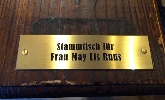 Stammstisch für Frau May Lis Ruus