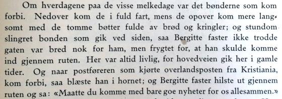 Et litterært stemningsbilde fra inne på Zander Kaaes fra boken Gamle Bergensbilleder av Adolph Berg, s 59