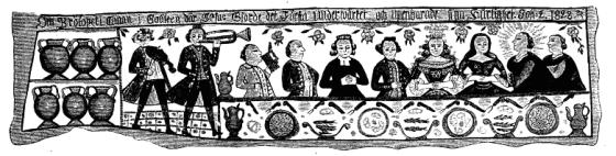 Bryllup (fra Dagligt Liv i Norden i det 16nde Aarhundre av Troels-Lund)