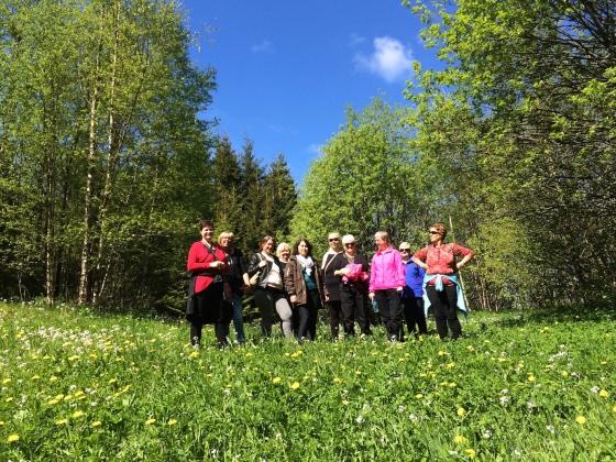 Lesere i Lucies fotspor på Hope og Grimstad (Foto: MLR)