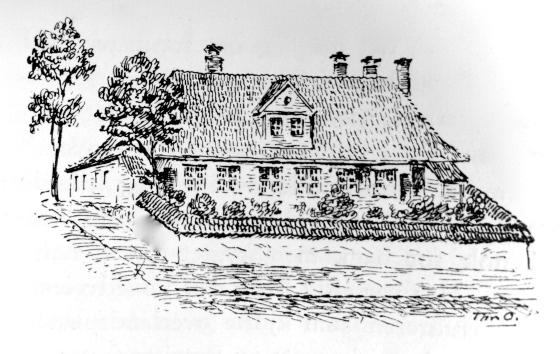 Zander Kaaes' hage. (Fra boken Gamle Bergensbilleder utgitt 1924)